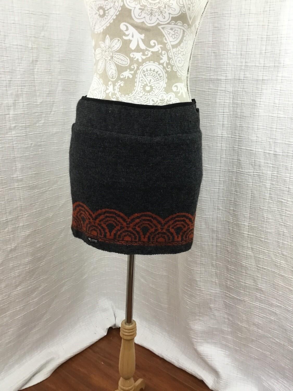 336 everest grey/orange wool skirt womens size medium 72720