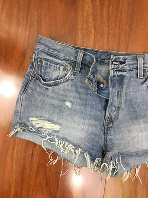 336 levi denim cut off button front jean shorts size 29 womens 072720