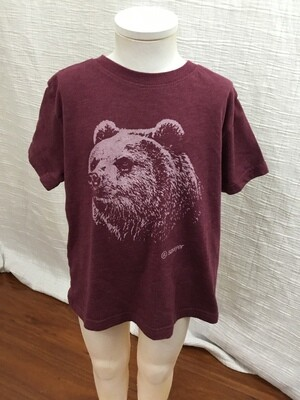 984 maroon sawyer kids short sleeve tee with bear toddler 4 072720