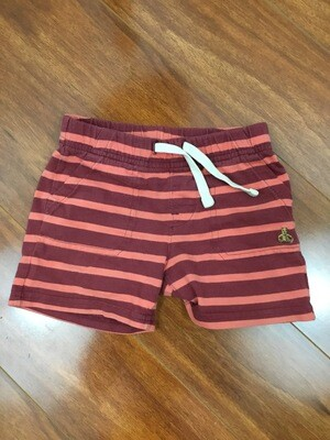 984 baby gap coral/maroon stripped shorts size 18-24months 072720