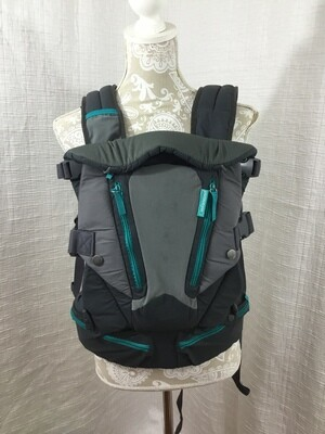 101a infantimo grey 2-tone and turquise baby carrier multi pocket 072620
