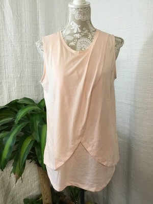 976 asos light pink cross front tank womens size 8 NEW 082720