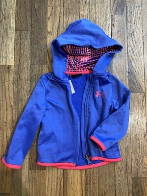 1190 under armour purple/neon pink toddler girl 2t track suit 081420