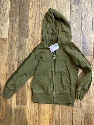 1190 juicy couture green full zip hooded toddler girls sweater size 2 081420
