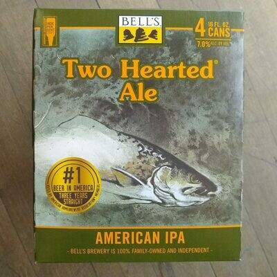 Bell's Two Hearted Ale IPA 16 FL. OZ. 4PK Cans