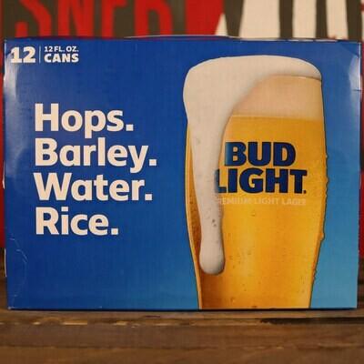 Bud LIGHT Lager 12 FL. OZ. 12PK Cans