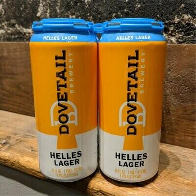 Dovetail Helles Lager 16 FL. OZ. 4PK Cans