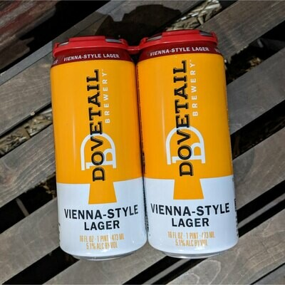 Dovetail Vienna Lager 16 FL. OZ. 4PK Cans