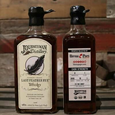 Journeyman/Bitter Pops Barrel Select Last Feather Rye Cask Whiskey 750ml