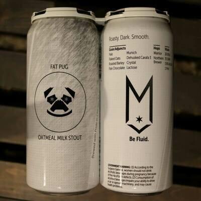 Maplewood Fat Pug Oatmeal Milk Stout 16 FL. OZ. 4PK Cans