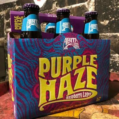 Abita Purple Haze Raspberry Lager 12 FL. OZ. 6PK