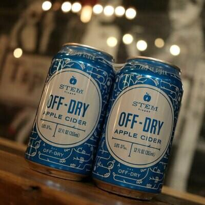 Stem Cider Off-Dry 12 FL. OZ. 4PK Cans