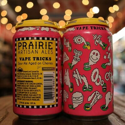 Prairie Vape Tricks Cherry Sour 12 FL. OZ. 4PK Cans