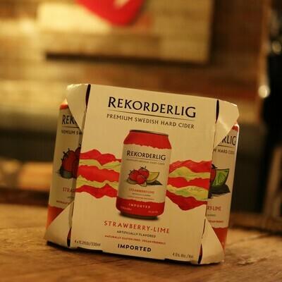Rekorderlig Cider Strawberry Lime 11.2 FL. OZ. 4PK Cans