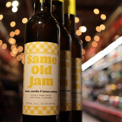 Misbeehavin Mead Same Old Jam Lemon Vanilla 375ml.
