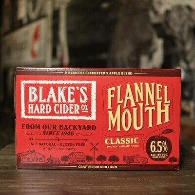 Blake's Cider Flannel Mouth Classic 12 FL. OZ. 6PK Cans