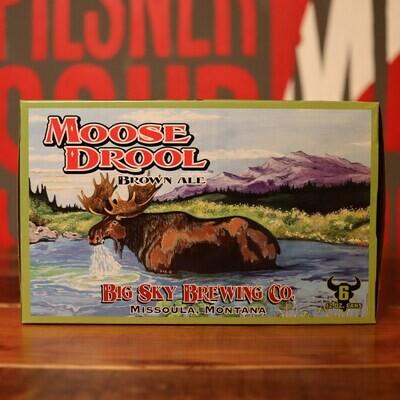 Big Sky Moose Drool Brown Ale 12 FL. OZ. 6PK Cans