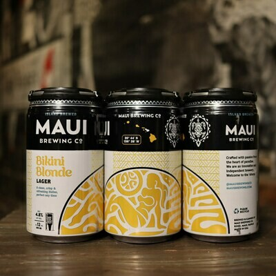 Maui Brewing Bikini Blonde Lager 12 FL. OZ. 6PK Cans