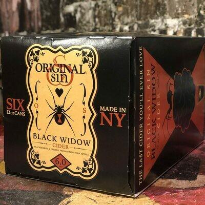 Original Sin Black Widow Cider w/Blackberries 12 FL. OZ. 6PK Cans