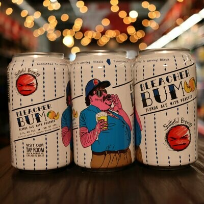 Spiteful Bleacher Bum Blonde Ale w/Peaches 12 FL. OZ. 6PK Cans