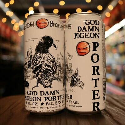 Spiteful God Damn Pigeon Porter 16 FL. OZ. 4PK Cans