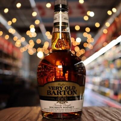 Very Old Barton Bourbon Whiskey 100 Proof 750ml.