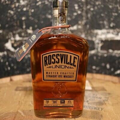 Rossville Union Rye Whiskey 750ml.