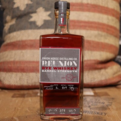 Union Horse Reunion Barrel Strength Rye Whiskey 375ml.
