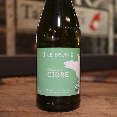 Le Brun Organic Cidre 25.4 Fl. OZ.