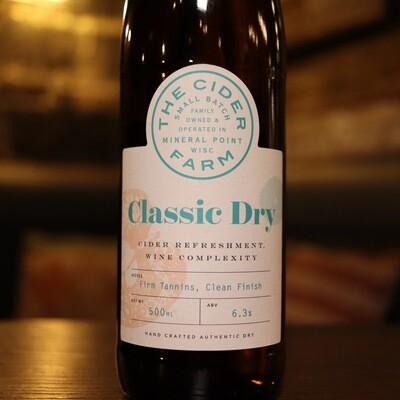 The Cider Farm Classic Dry 500ml.