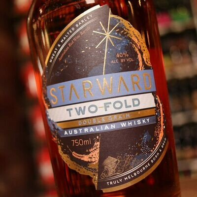 Starward Two Fold Double Grain Whisky 750ml.