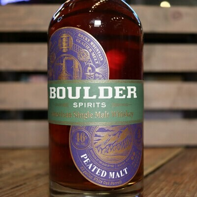 Boulder Single Malt Whiskey PEATED MALT 750ml.