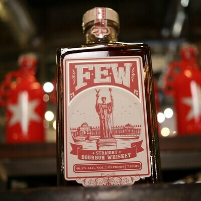 FEW Straight Bourbon Whiskey 750ml.