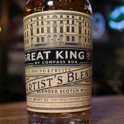 Great King Street Artist's Blend Scotch Whisky 750ml.