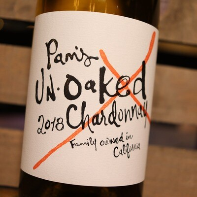 Pam's Un-Oaked Chardonnay California 750ml.