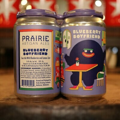 Prairie Blueberry Boyfriend Sour w/ Blueberries & Lemon 12 FL. OZ. 4PK Cans
