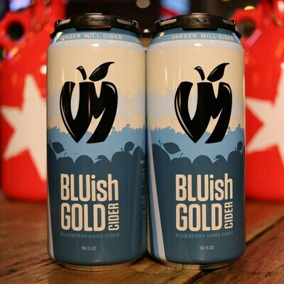 Vandermill BLUish Gold Blueberry Cider 16 FL. OZ. 4PK Cans