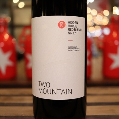 Two Mountain Hidden Horse Red Blend Washington 750ml.