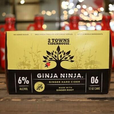 2 Towns Cider Ginja Ninja 12 FL. OZ. 6PK Cans