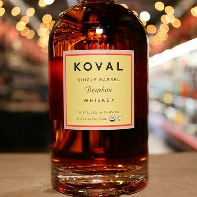 Koval Whiskey Bourbon 750ml.