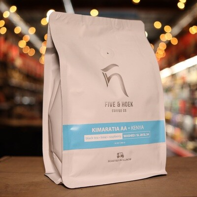 Five & Hoek Kimaratia AA Kenya Whole Bean Coffee 16oz Bag