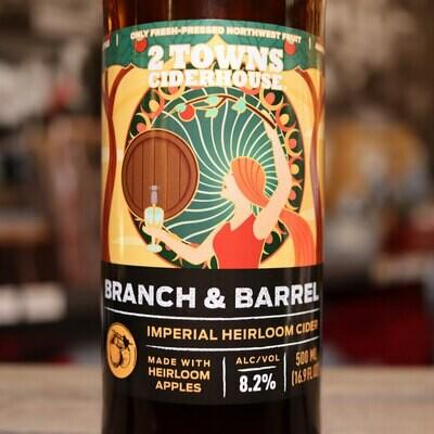 2 Towns Cider Branch & Barrel Imperial Heirloom 16.9 FL. OZ.