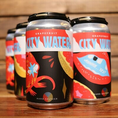 City Water Grapefruit Hard Seltzer 12 FL. OZ. 6PK Cans