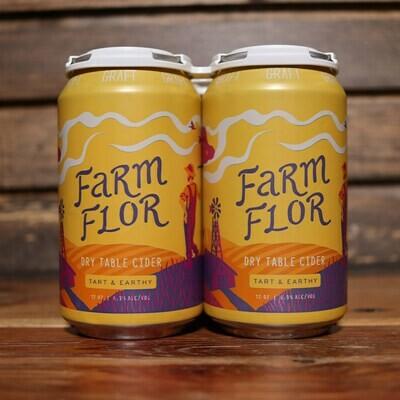 Graft Cider Farm Flor Dry 12 FL. OZ. 4PK Cans