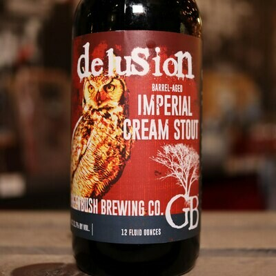Greenbush Delusion BA Imperial Cream Stout 12 FL. OZ.