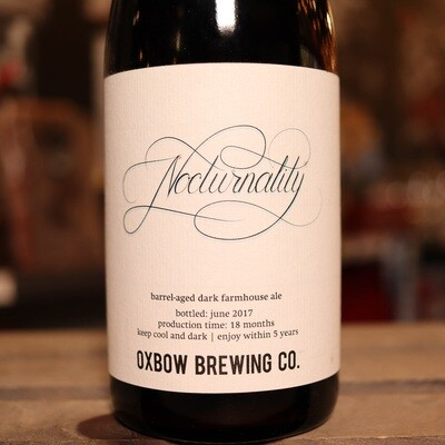 Oxbow Nocturnality Barrel-Aged Dark Farmhouse Ale 16.9 FL. OZ.