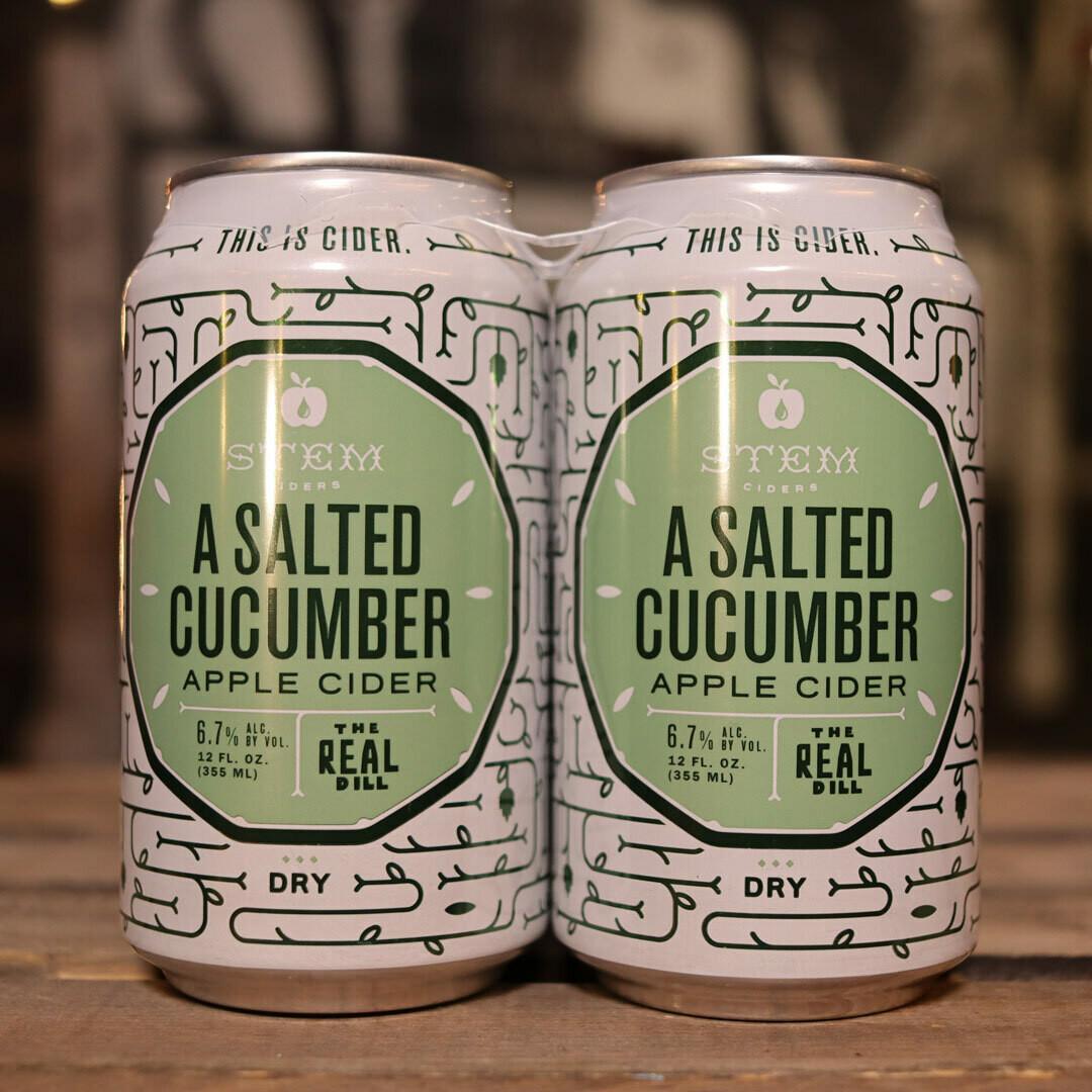 Stem Cider A Salted Cucumber 12 FL. OZ. 4PK Cans