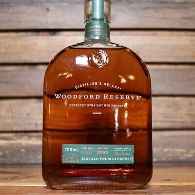 Woodford Reserve Straight Rye Whiskey 750ml.
