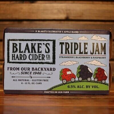 Blake's Cider Triple Jam 12 FL. OZ. 6PK Cans