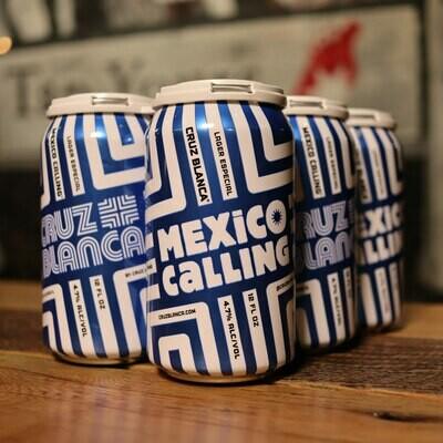 Cruz Blanca Mexico Calling Lager 12 FL. OZ. 6PK Cans